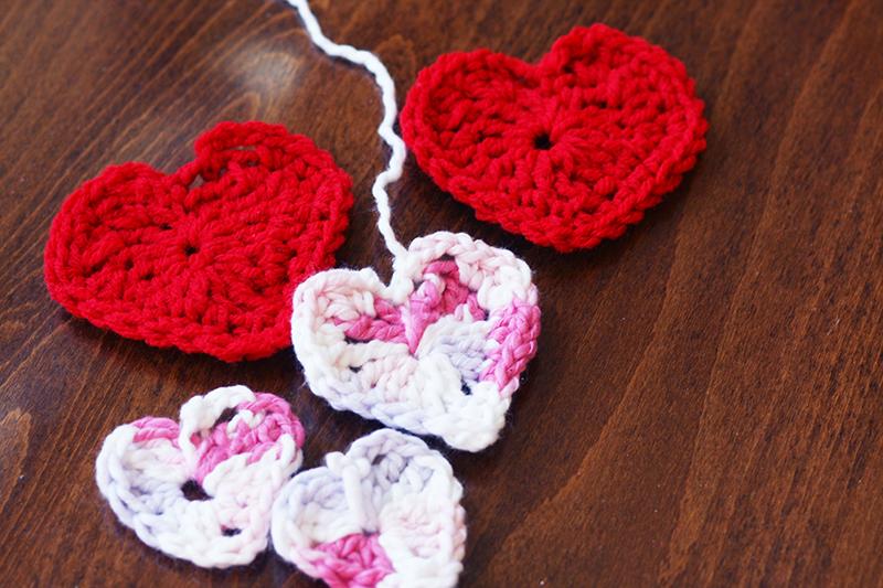 Crochet heart group web